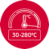 Wide range of temperatures