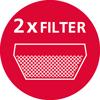 2 filtera od aktivnog uglja