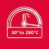 Plašs temperatūru diapazons