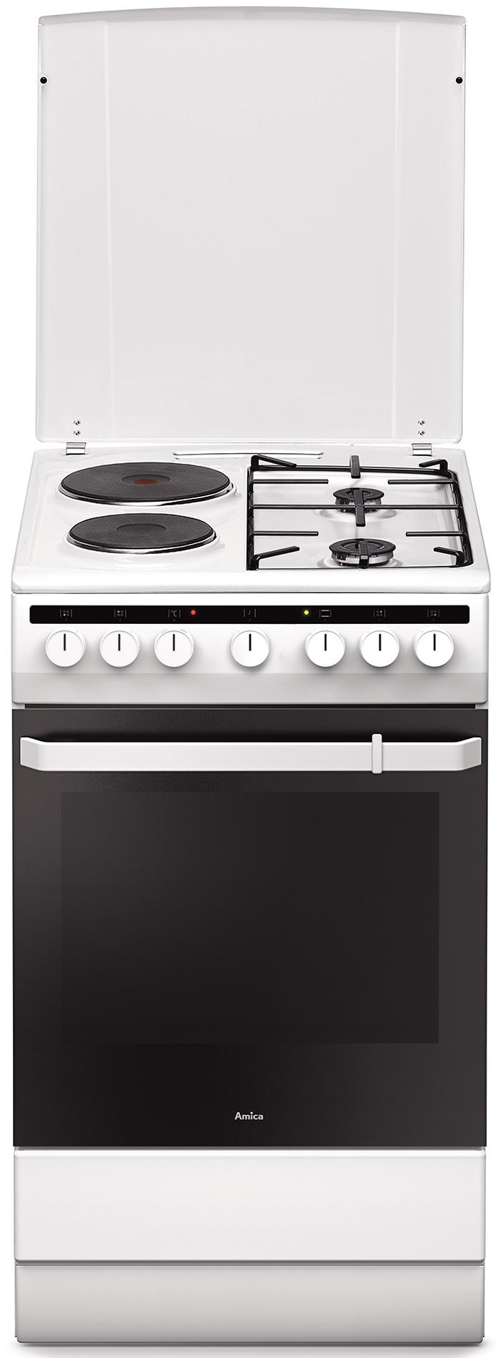 Kuchnia wolnostojąca gazowo elektryczna 500 58ME2 35HZpMs(W)  Amica -> Kuchnie Elektryczne Wolnostojące Indukcyjne