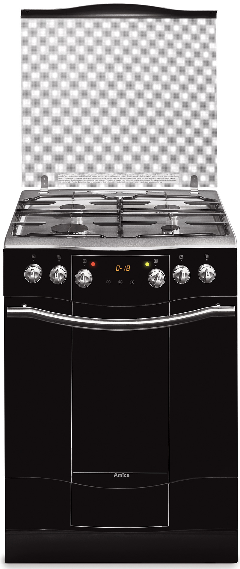 Kuchnia wolnostojąca gazowo elektryczna Impression 608GE3 33ZpTsNQ(XL)  Amica -> Kuchnie Elektryczne Indukcyjne Wolnostojące