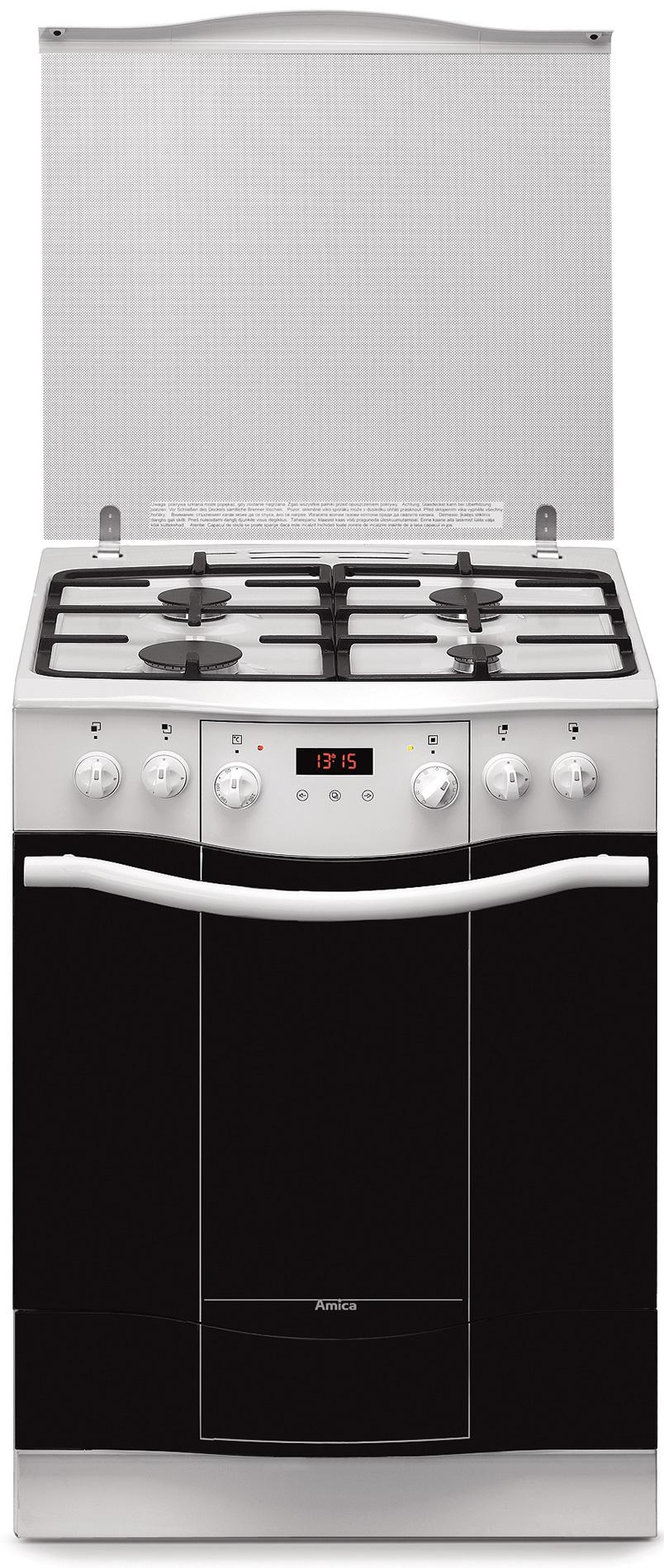 Kuchnia wolnostojąca gazowo elektryczna Amica IMPRESSION 608GE3 43ZpTsKDNAQ(W   -> Kuchnie Elektryczne Wolnostojące Indukcyjne