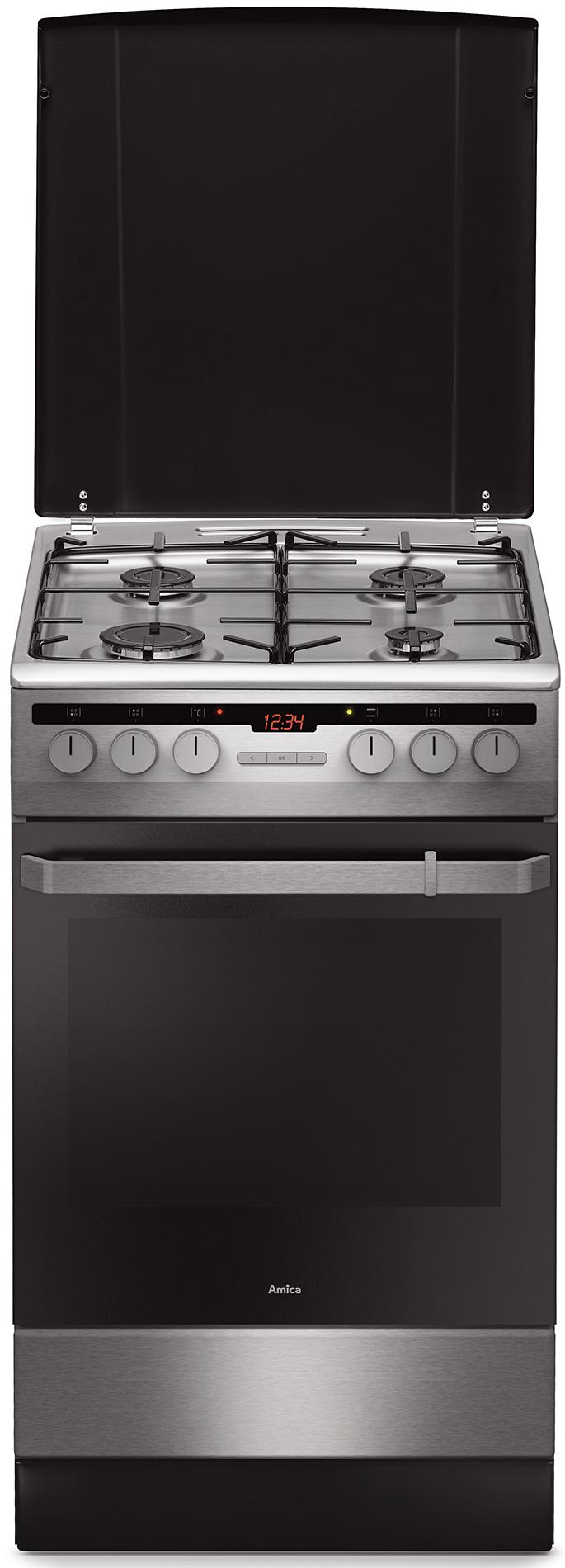 Kuchnia wolnostojąca gazowo elektryczna 500 58GE3 33HZpTaQ(Xx)  Amica -> Kuchnie Gazowe Elektryczne Amica