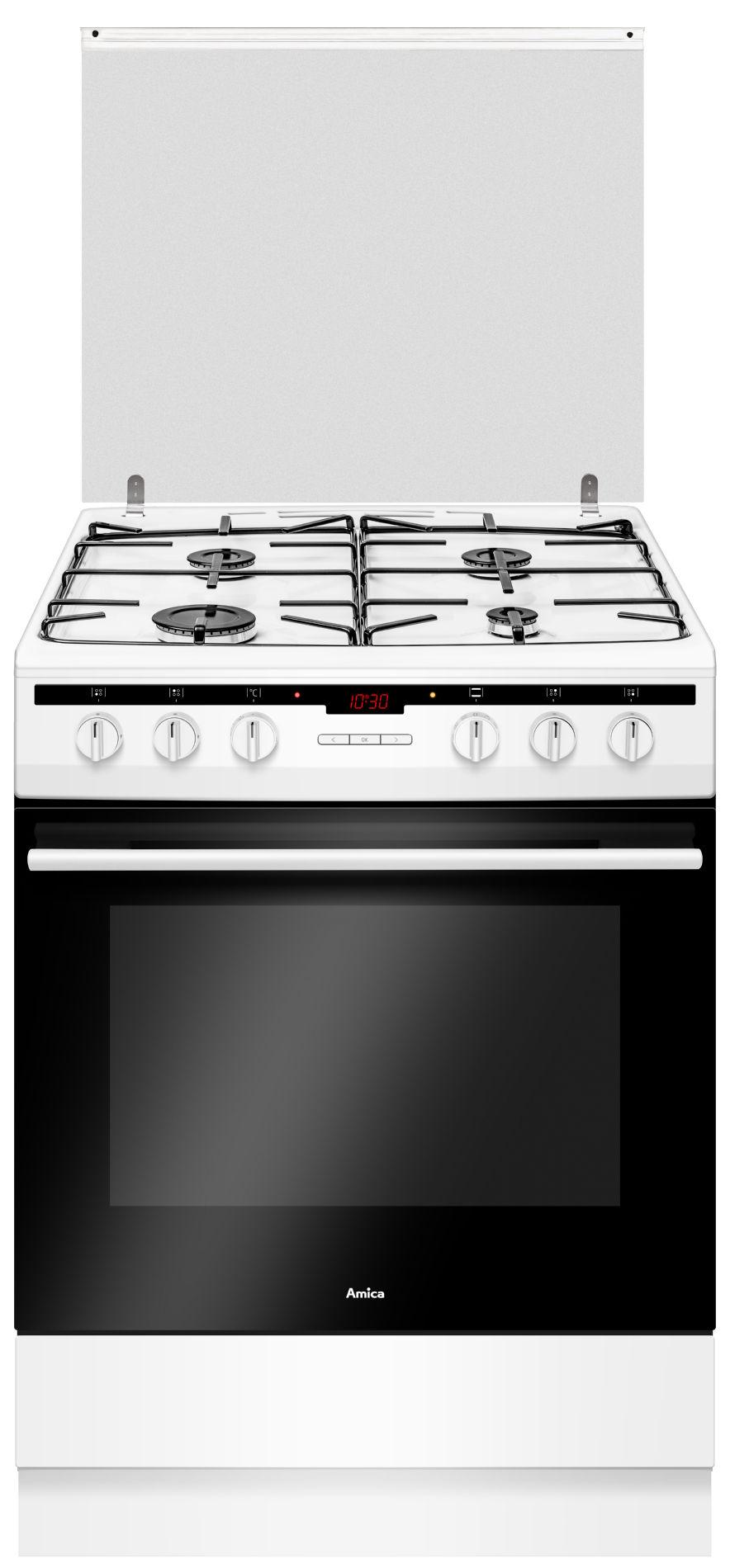 Kuchnia wolnostojąco gazowo elektryczna 600 617GE3 33HZpTaNQ(W)  Amica -> Kuchnie Elektryczne Indukcyjne Wolnostojące