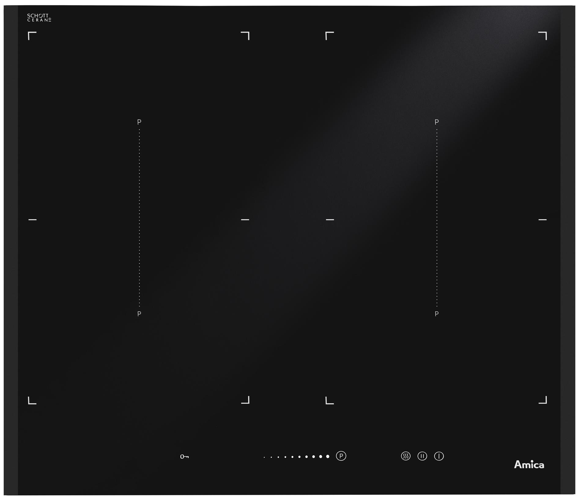 Płyta indukcyjna Amica IN IN6544ISTB  Amica -> Kuchnie Elektryczne Wolnostojące Indukcyjne