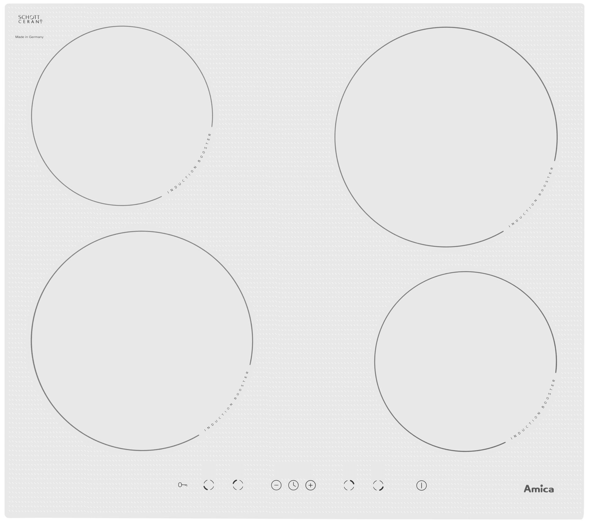 Płyta indukcyjna PI6140WTU  Amica -> Kuchnie Gazowe Elektryczne Amica