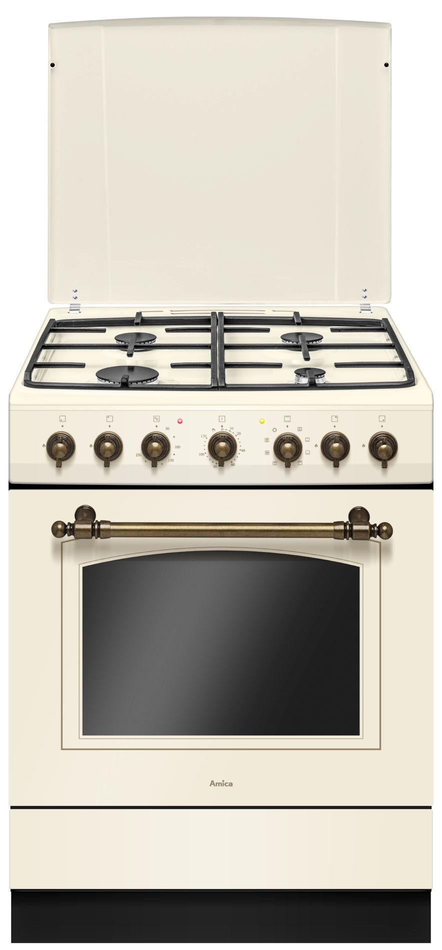 Kuchnia wolnostojąca gazowo elektryczna Amica RETRO 621GE2   -> Kuchnia Retro Amica