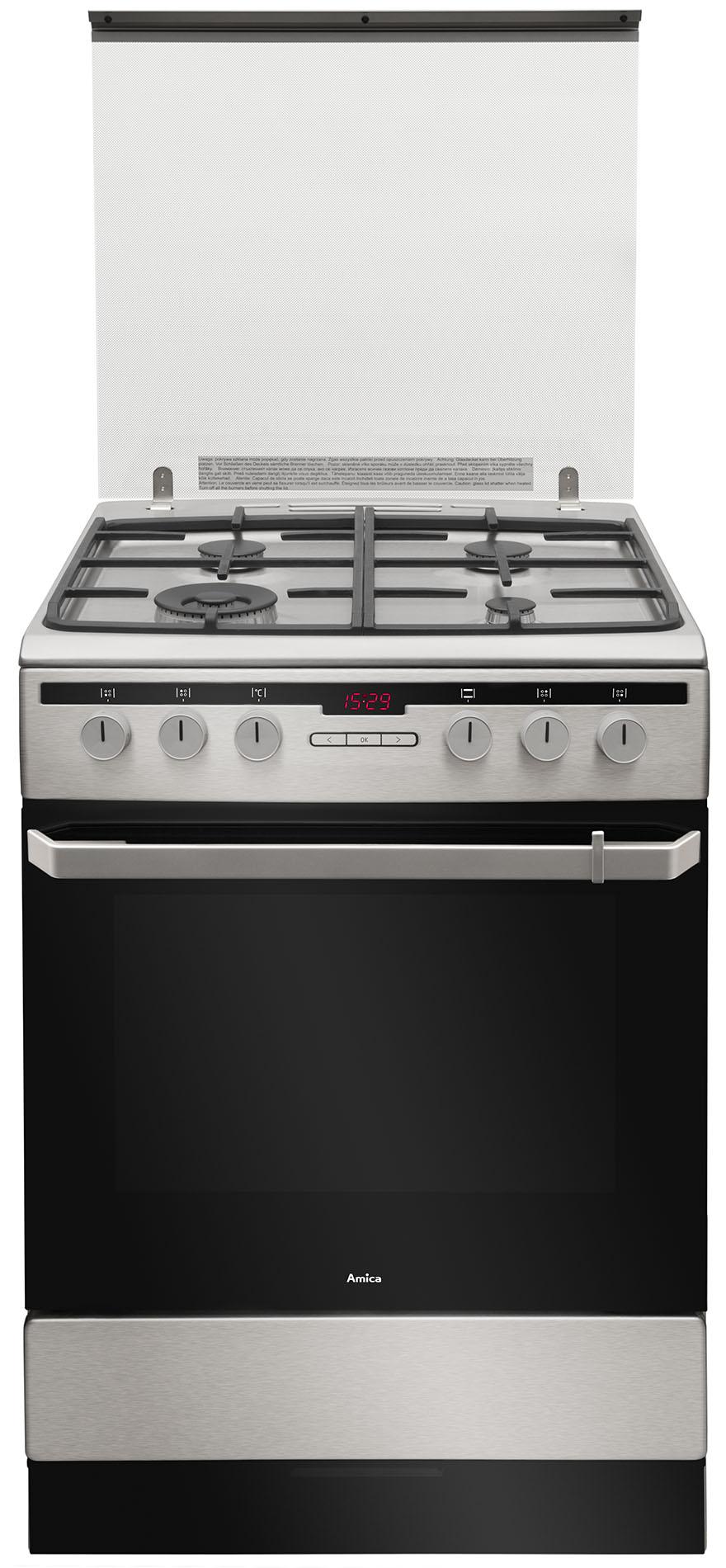 Kuchnia wolnostojąca gazowo elektryczna 600 618GE3 39HZpTaDpNAQ(Xx)  Amica -> Kuchnie Elektryczne Wolnostojące Indukcyjne