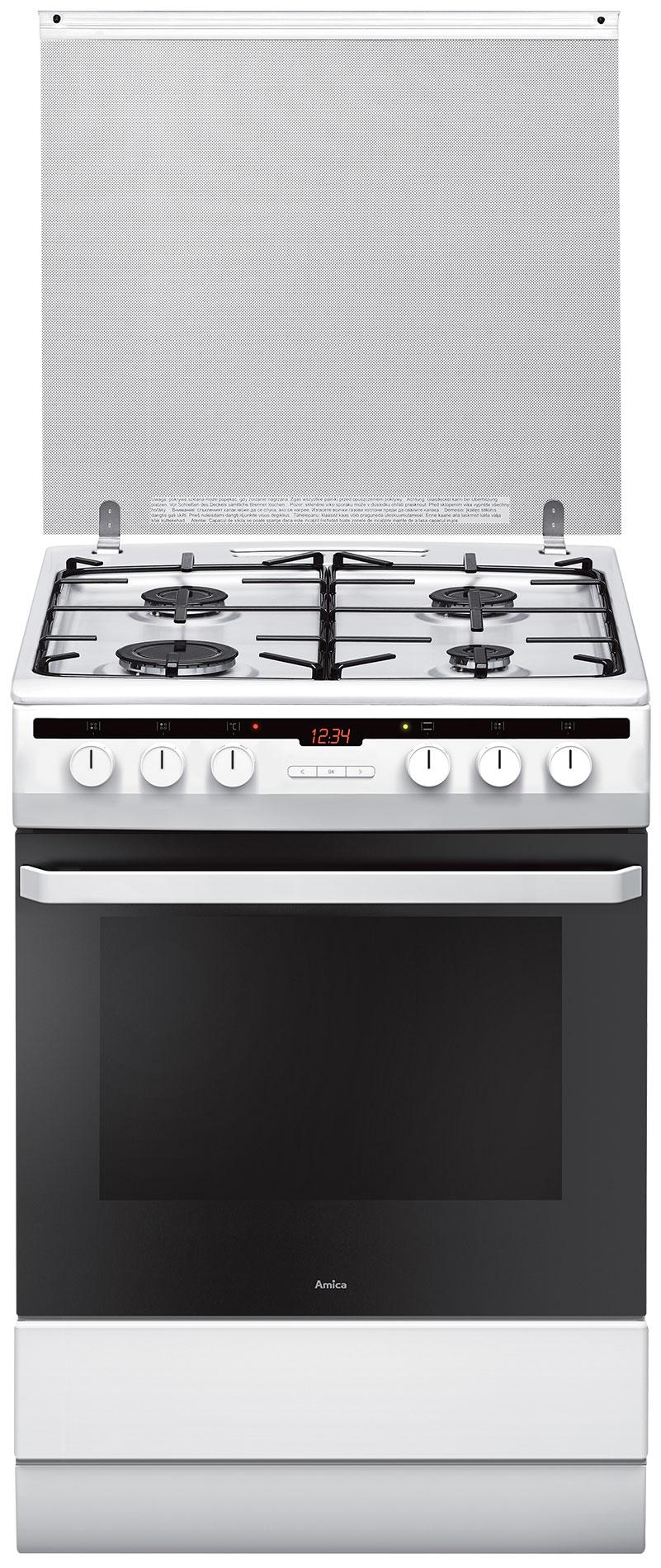 Kuchnia wolnostojąca gazowo elektryczna 618GES3 43HZpTaDNQ(W)  Amica -> Kuchnie Gazowe Elektryczne Amica