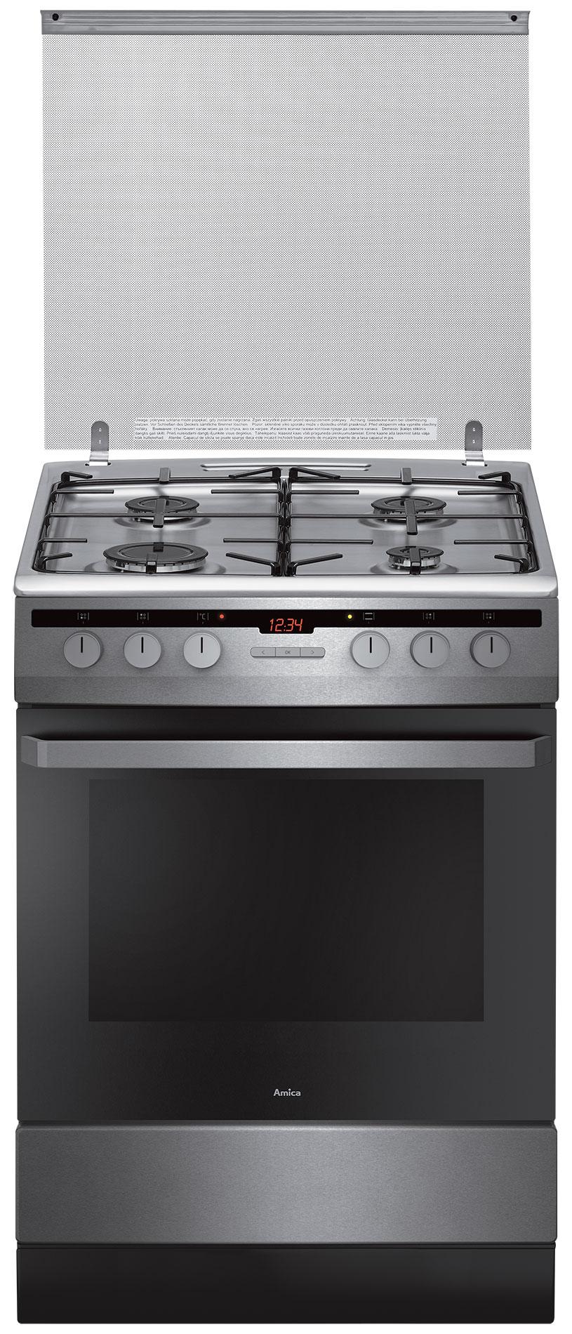 Kuchnia wolnostojąca gazowo elektryczna 618GES2 33HZpTaN(Xx)  Amica -> Kuchnie Gazowe Elektryczne Amica