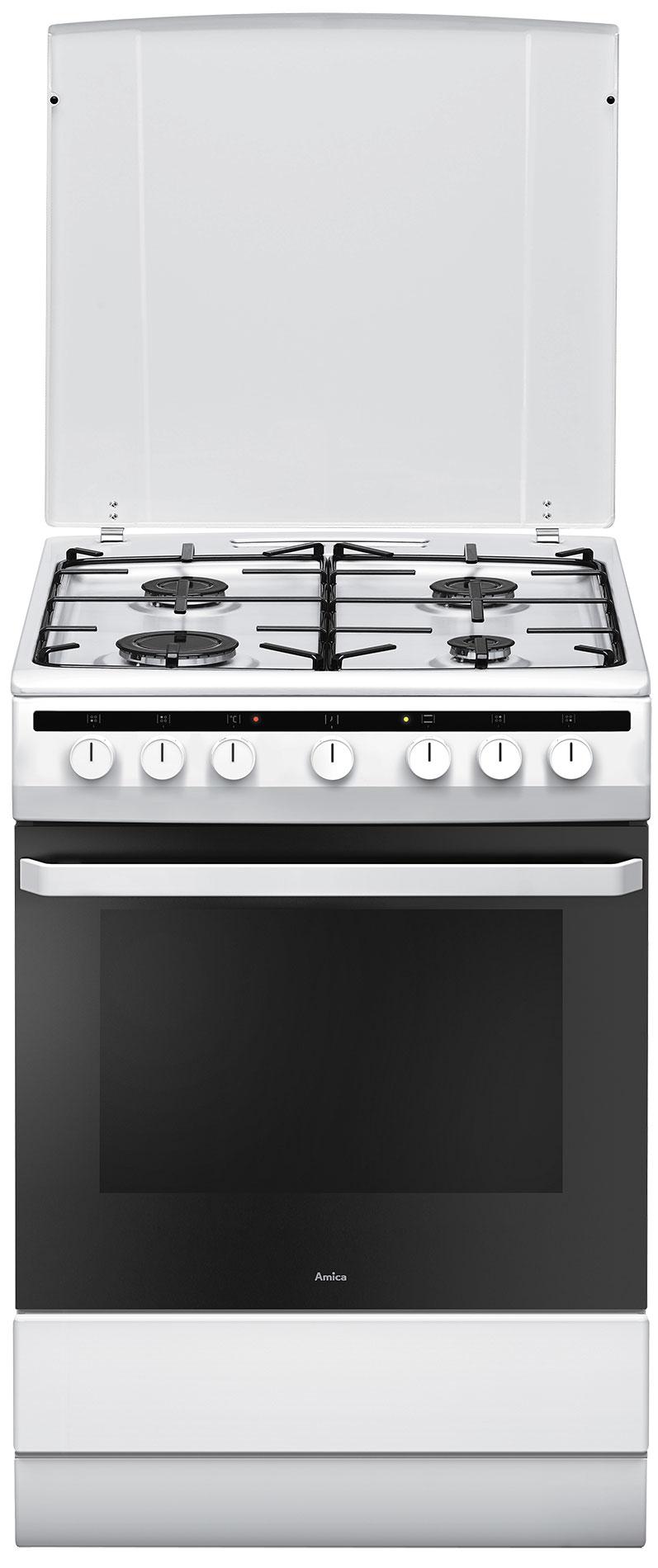 Kuchnia wolnostojąca gazowo elektryczna 618GES2 33HZpMs(W)  Amica -> Kuchnie Elektryczne Indukcyjne Wolnostojące