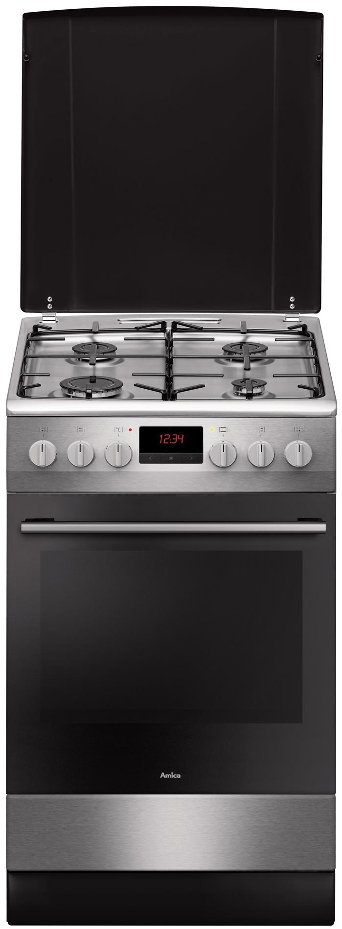 Kuchnia wolnostojąca gazowo elektryczna 510GES3 43ZpTaD(Xx)  Amica # Kuchnie Gazowe Elektryczne Amica