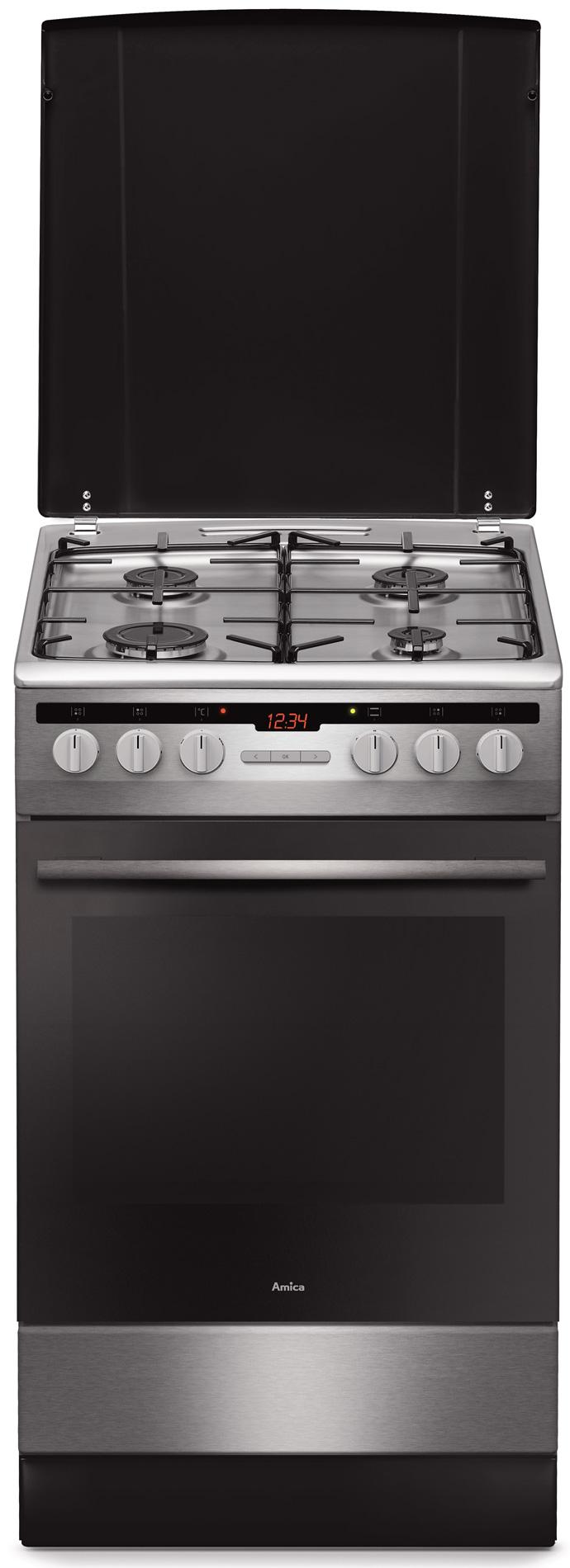 Kuchnia wolnostojąca gazowo elektryczna 57GEH2 33HZpTa(Xx)  Amica -> Kuchnie Elektryczne Indukcyjne Wolnostojące