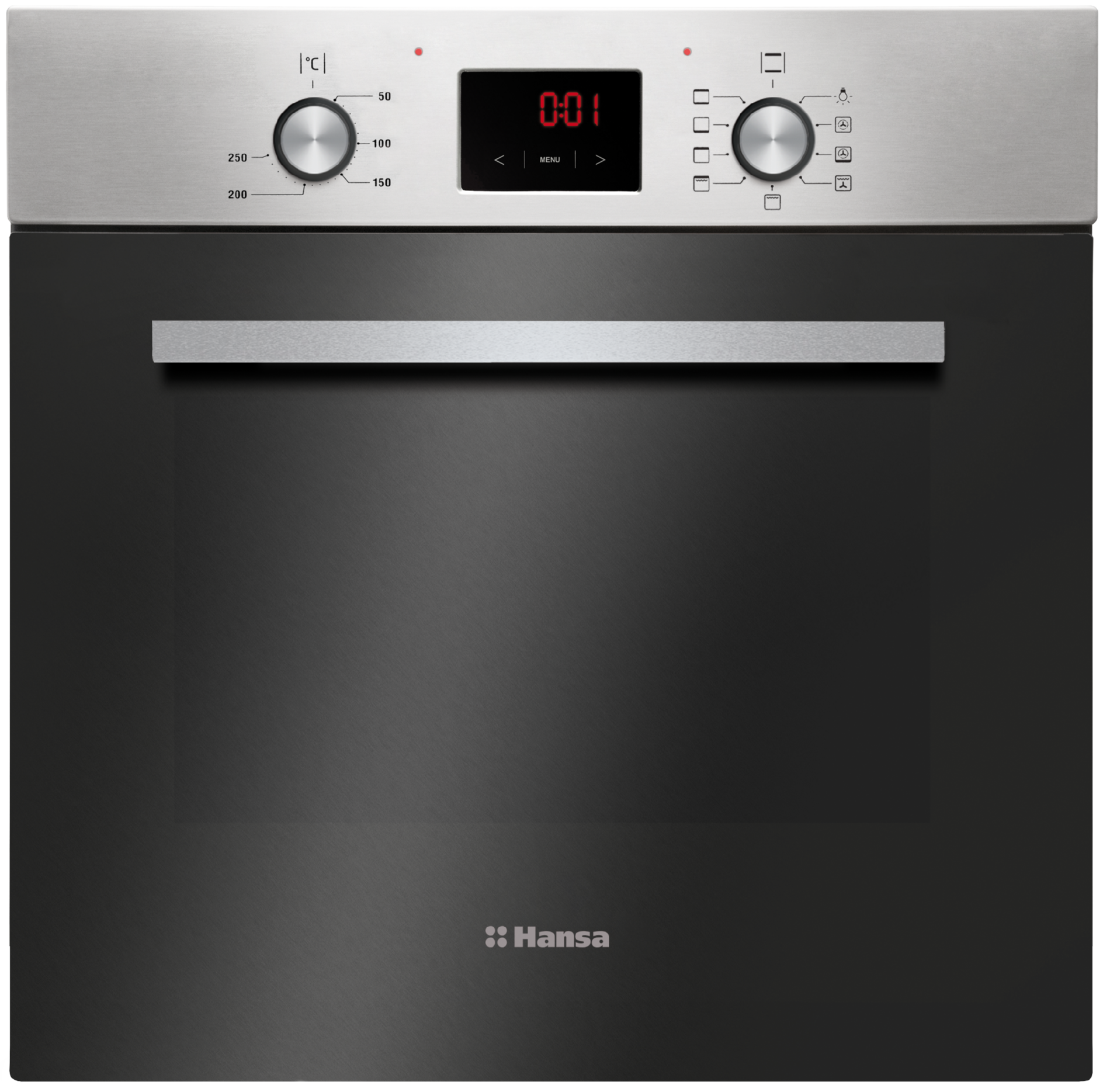 How do I clean the oven of burnt fat at home