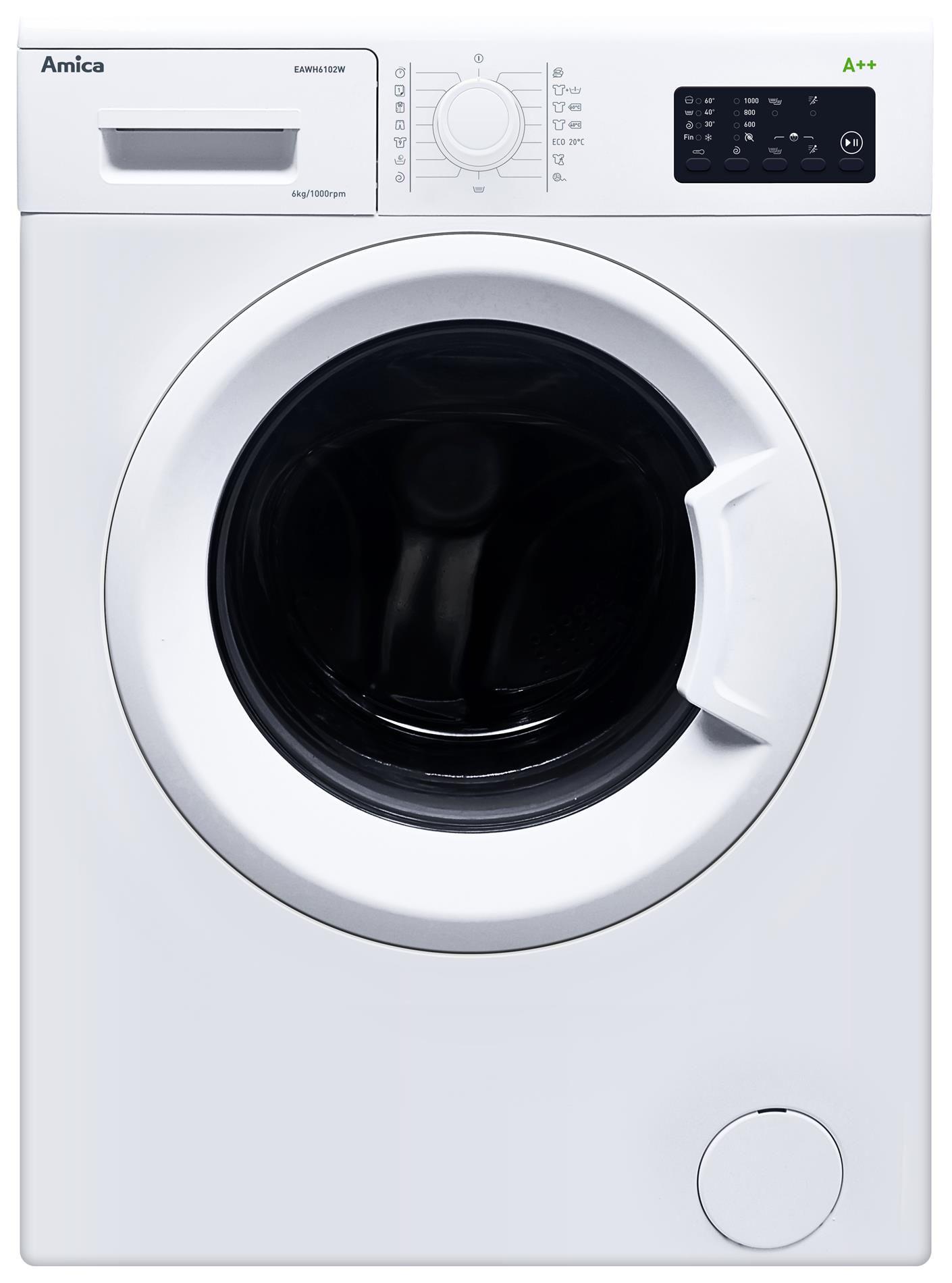 Lavadora Eawh 6102 W Amica Appliances Los Frigor Ficos Los  ~ Cual Es El Programa Mas Corto De La Lavadora