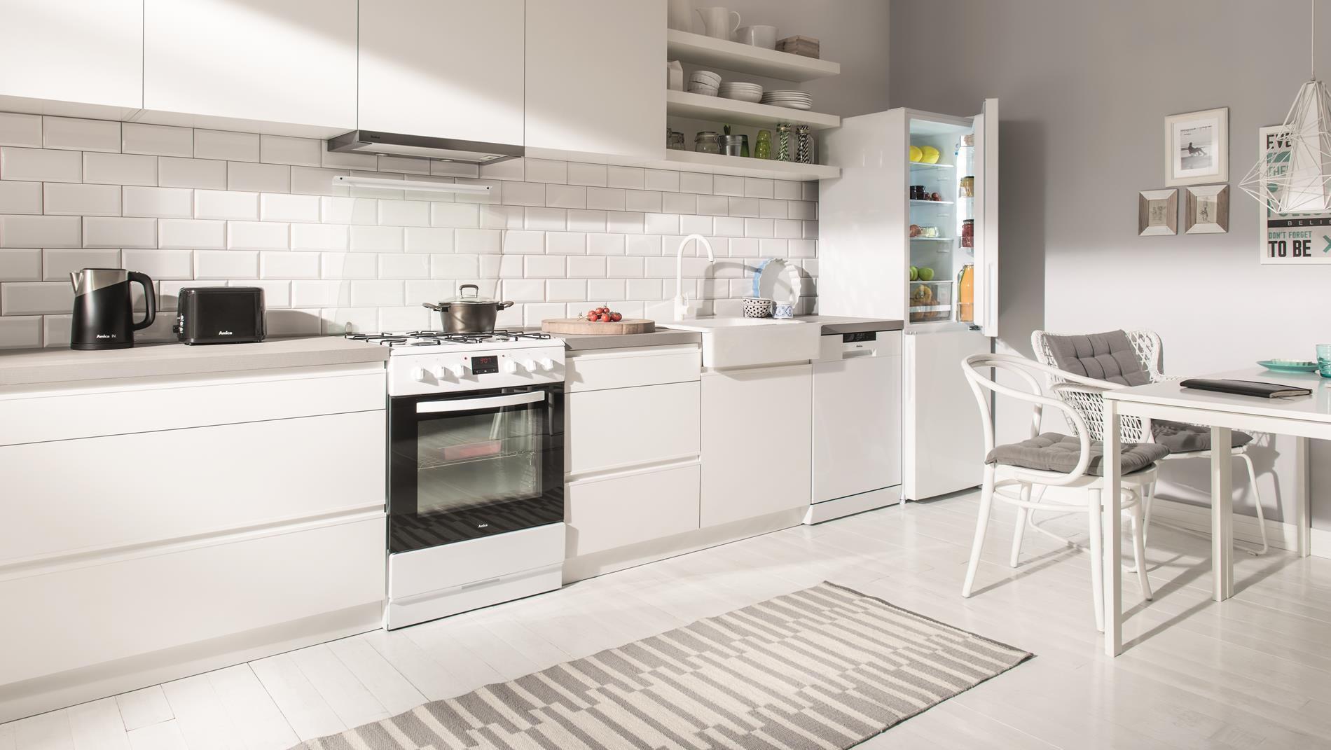 Kuchnia wolnostojąca gazowo elektryczna 600 620GE3 33ZpTaDpNQ(W)  Amica -> Kuchnia Elektryczna Wolnostojąca Amica