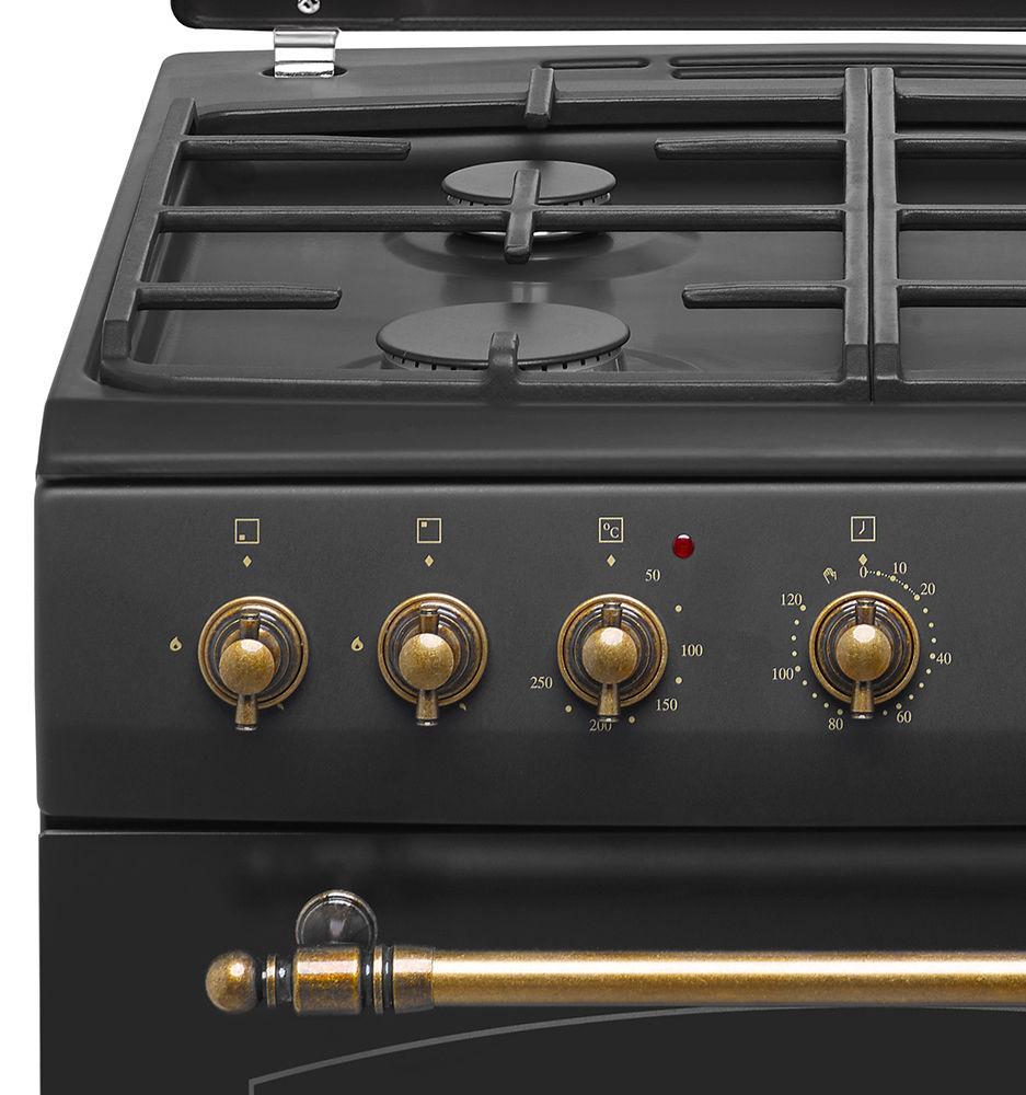 Kuchnia wolnostojąca gazowo elektryczna Amica RETRO 621GE2   -> Kuchnia Gazowa Amica Regulacja