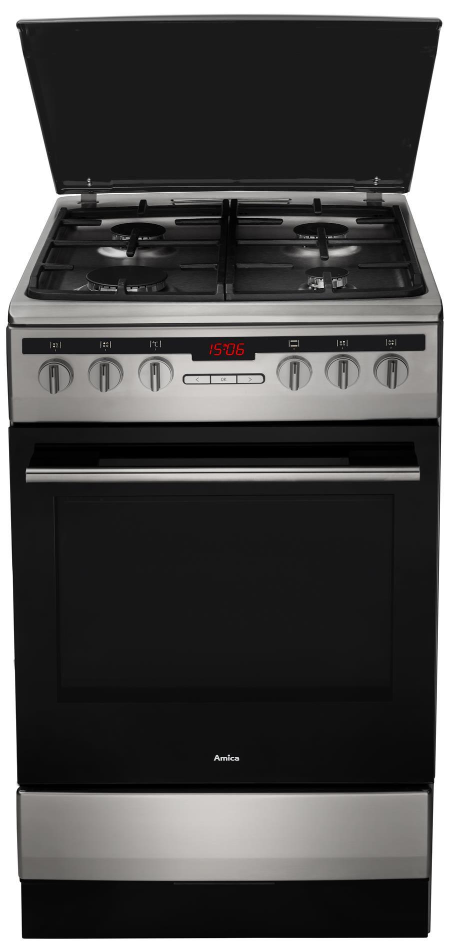 Kuchnia wolnostojąca gazowo elektryczna 500 57GE3 33HZpTaDpAQ(Xx)  Amica -> Kuchnia Amica Instrukcja Obslugi Piekarnika