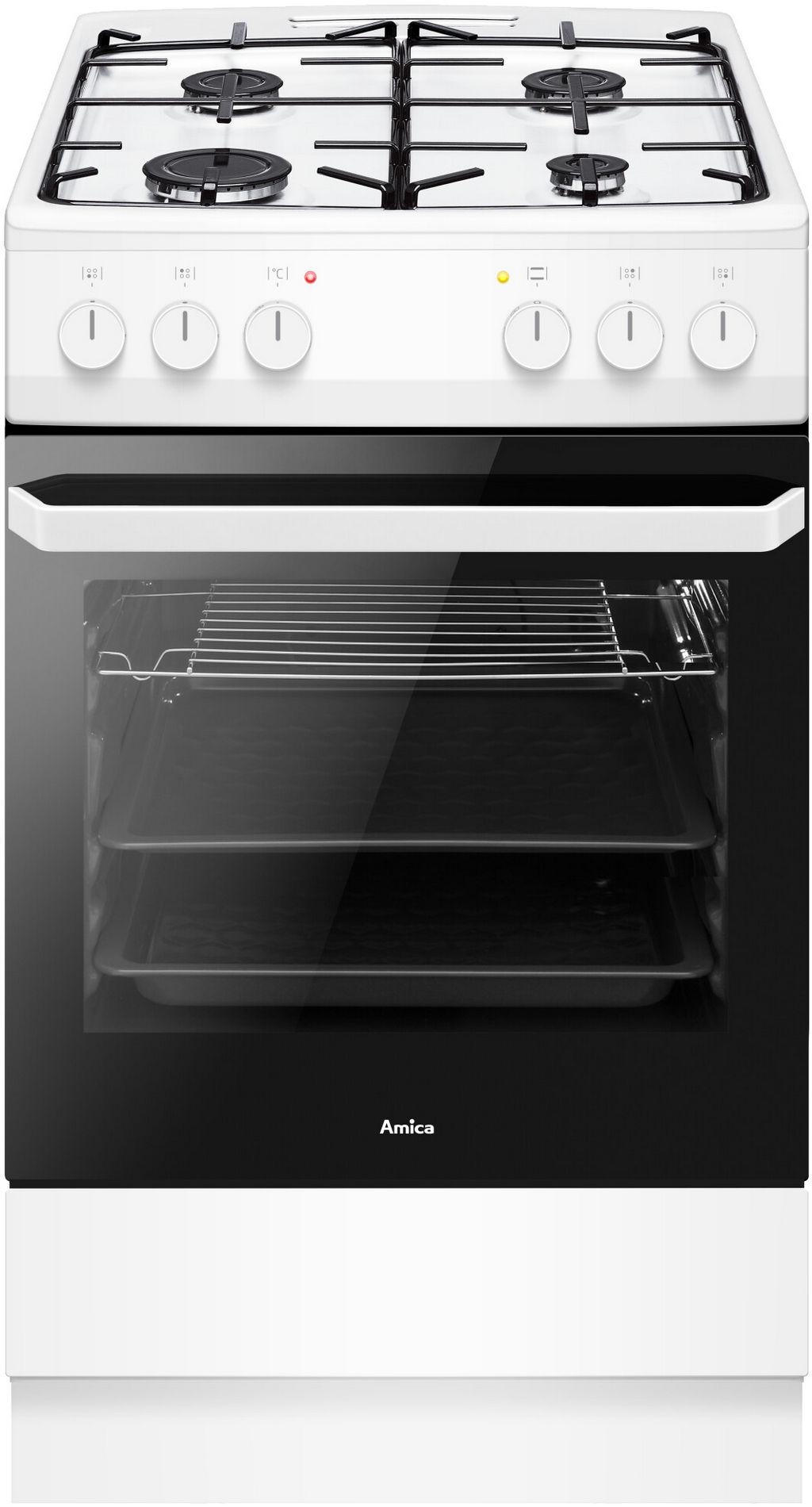 Kuchnia wolnostojąca gazowo elektryczna 500 58GE1 23PF(W   -> Kuchnia Amica Drzwi
