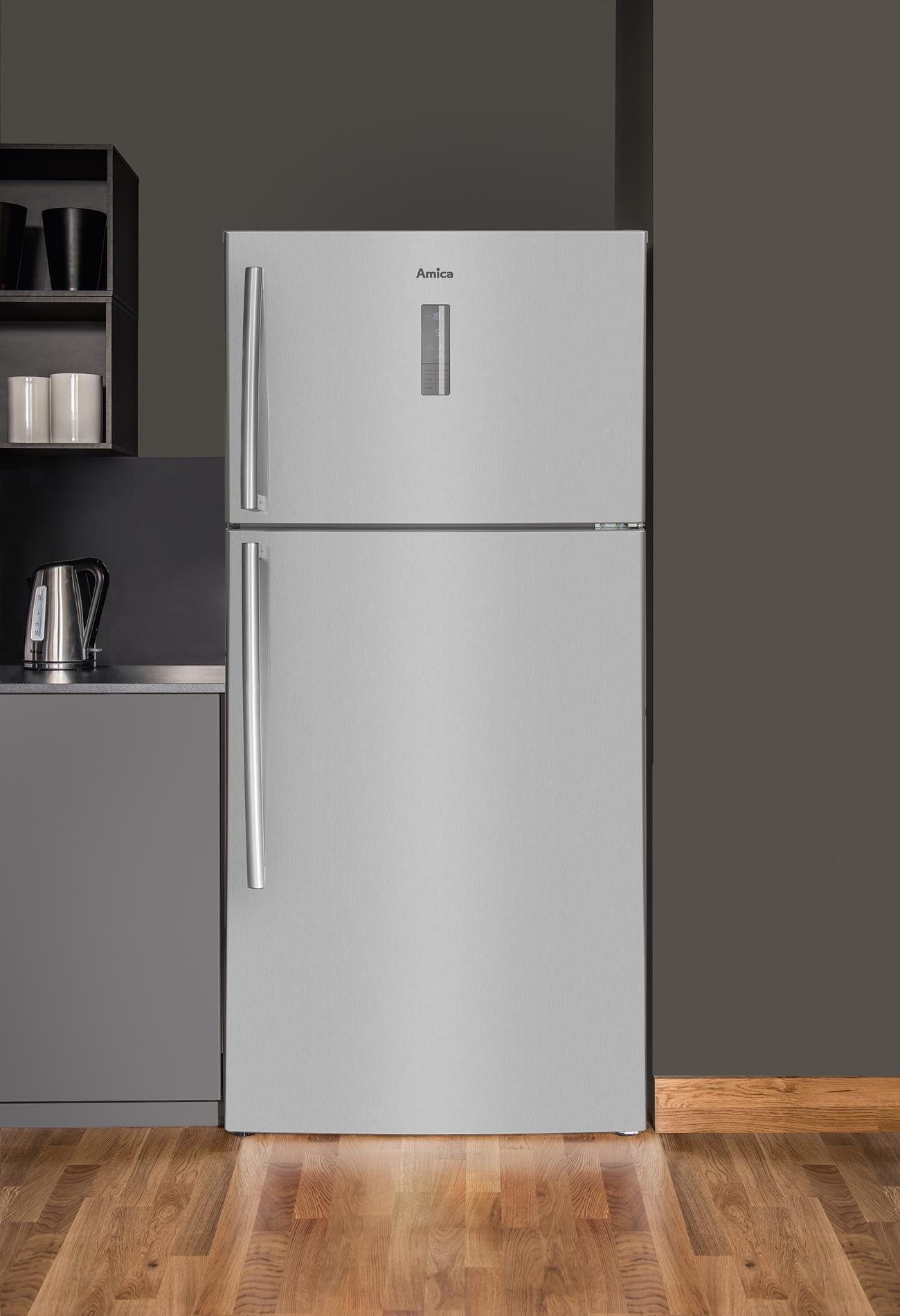 Free Standing Fridge Freezer With Freezer On Top Fd4328