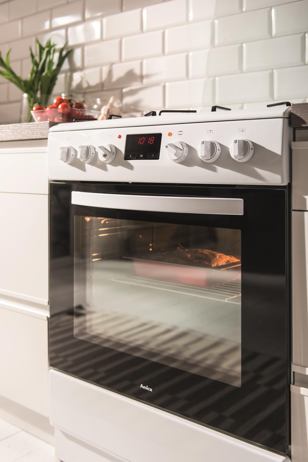 Kuchnia wolnostojąca gazowo elektryczna 600 620GE3 33ZpTaDpNQ(W)  Amica -> Kuchnia Gazowo Elektryczna Amica Ceny