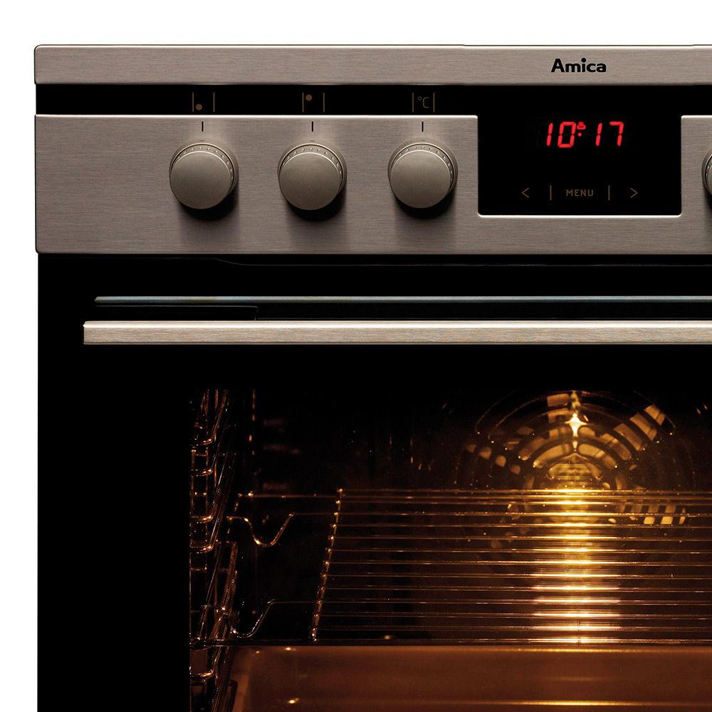 Kuchnia do zabudowy z płytą gazową na szkle Amica INTEGRA GHGI 85512 AA  Amica -> Kuchnia Amica Z Roznem Obrotowym