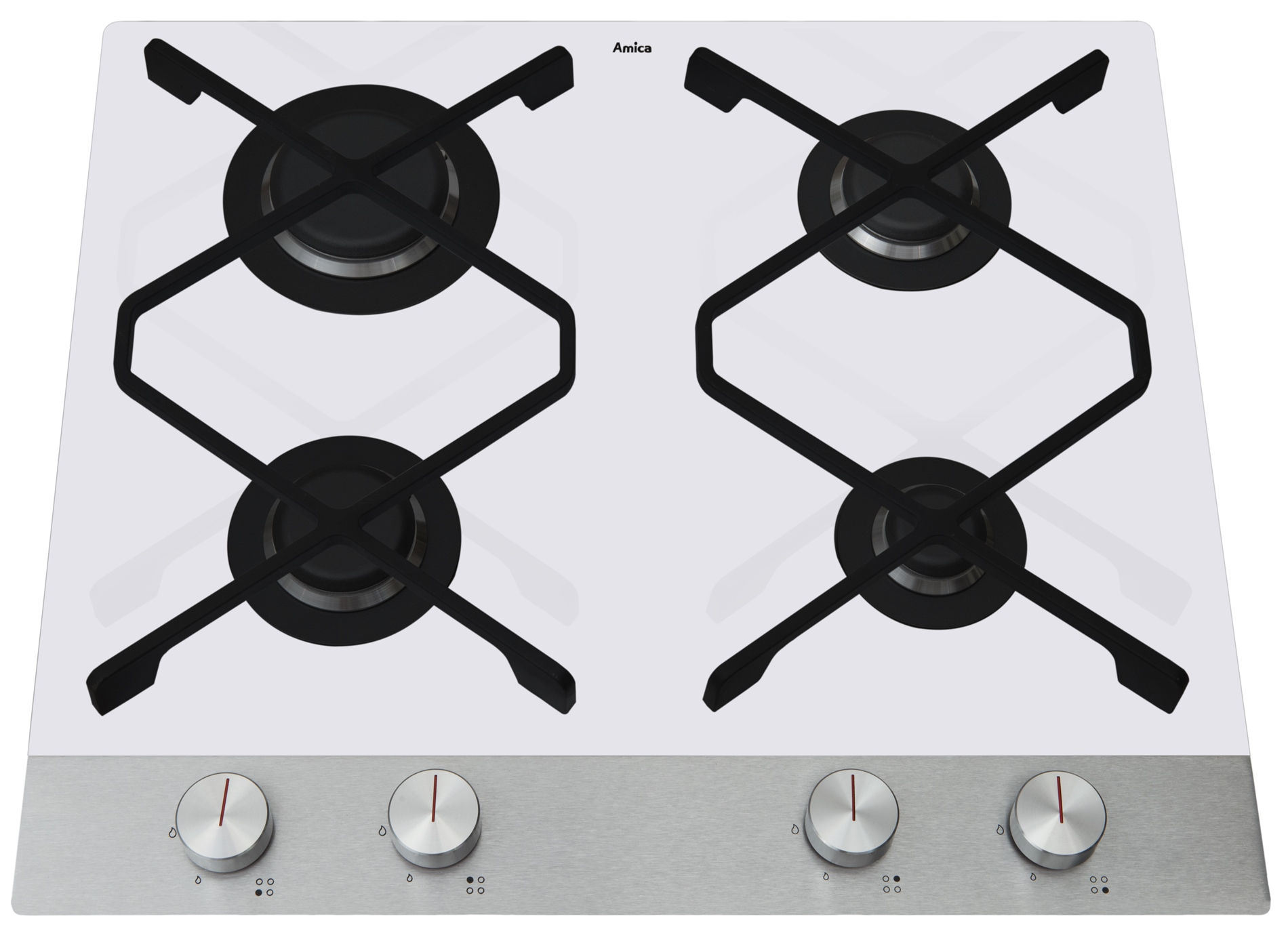 Built in ceramic hob with gas burners Amica IN PG6610SRW