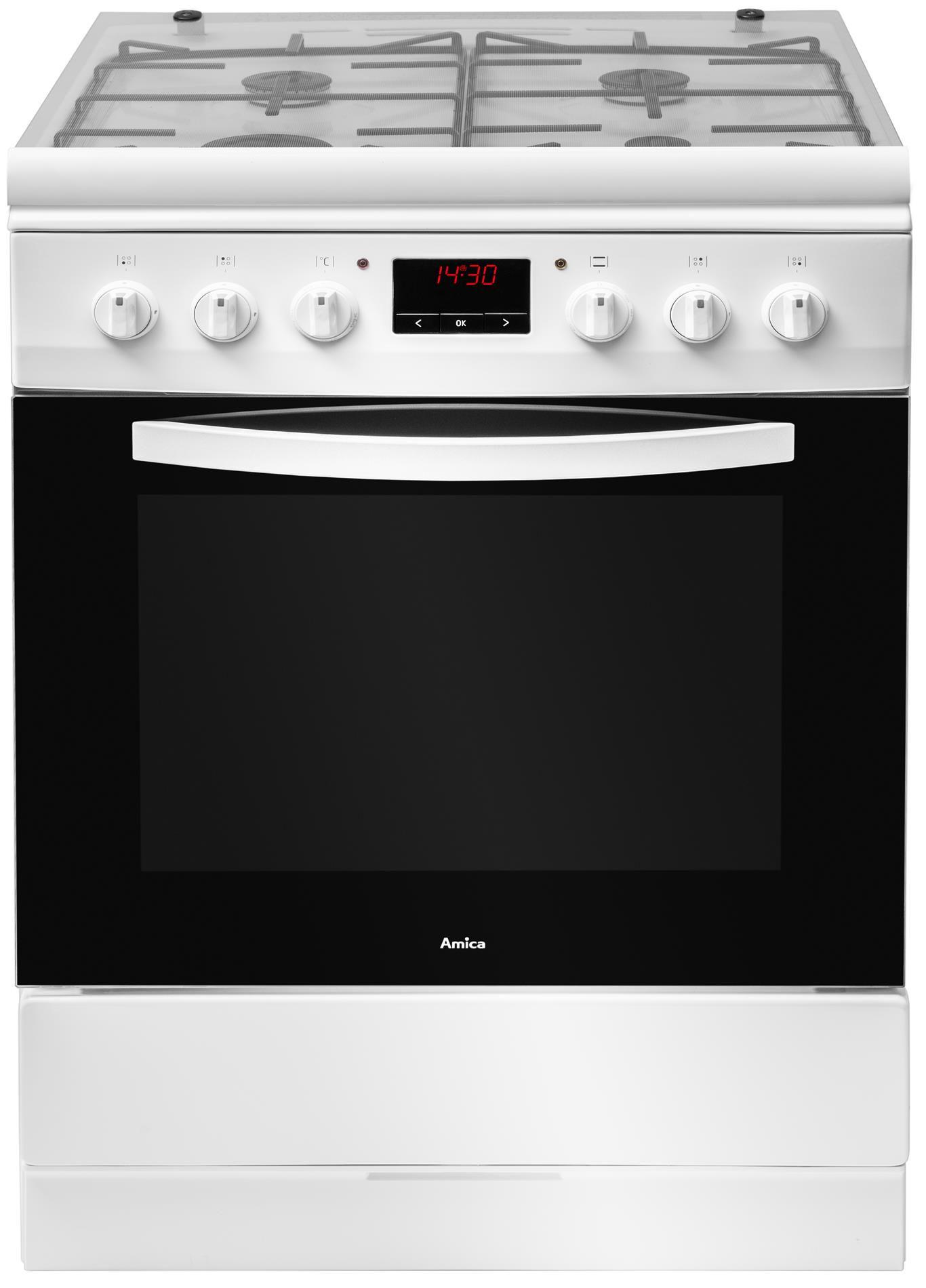 Kuchnia wolnostojąca gazowo elektryczna 600 620GE3 33ZpTaDpNQ(W)  Amica -> Kuchnia Gazowo Elektryczna Oddam