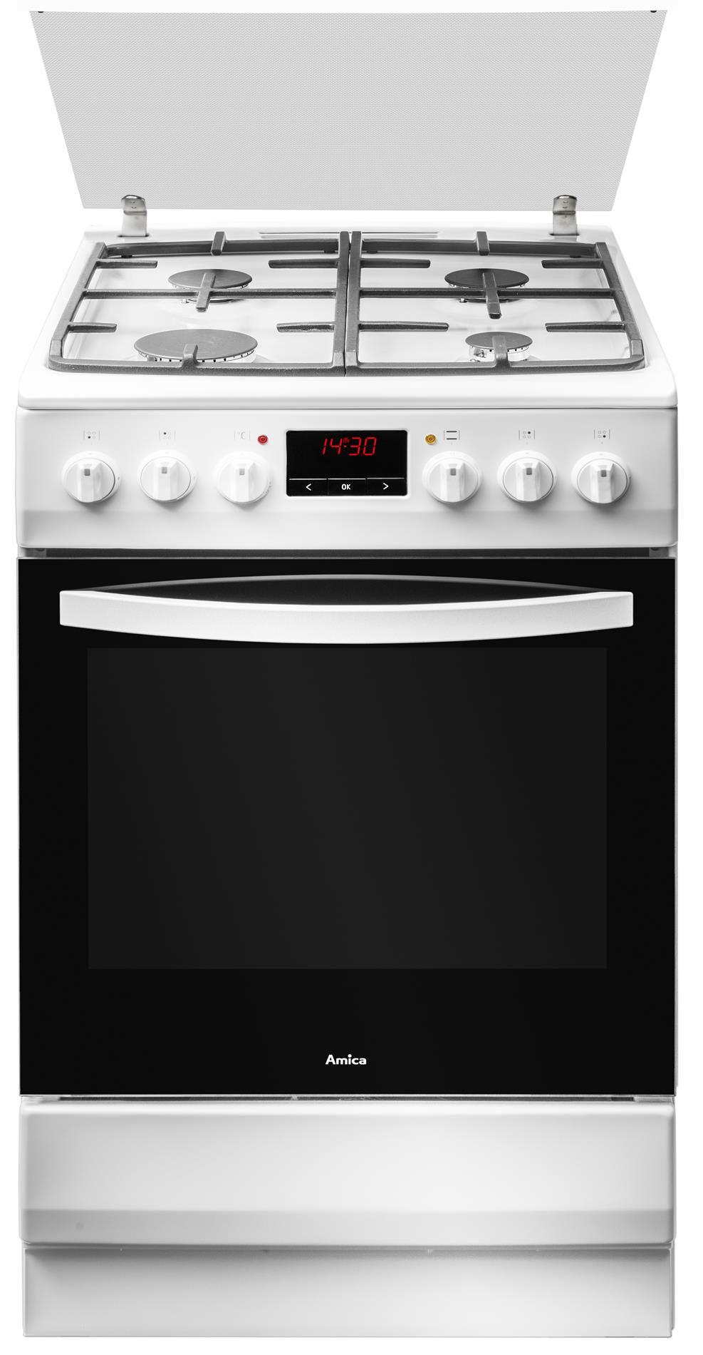 Kuchnia wolnostojąca gazowo elektryczna 500 520GE3   -> Kuchnia Amica Drzwi