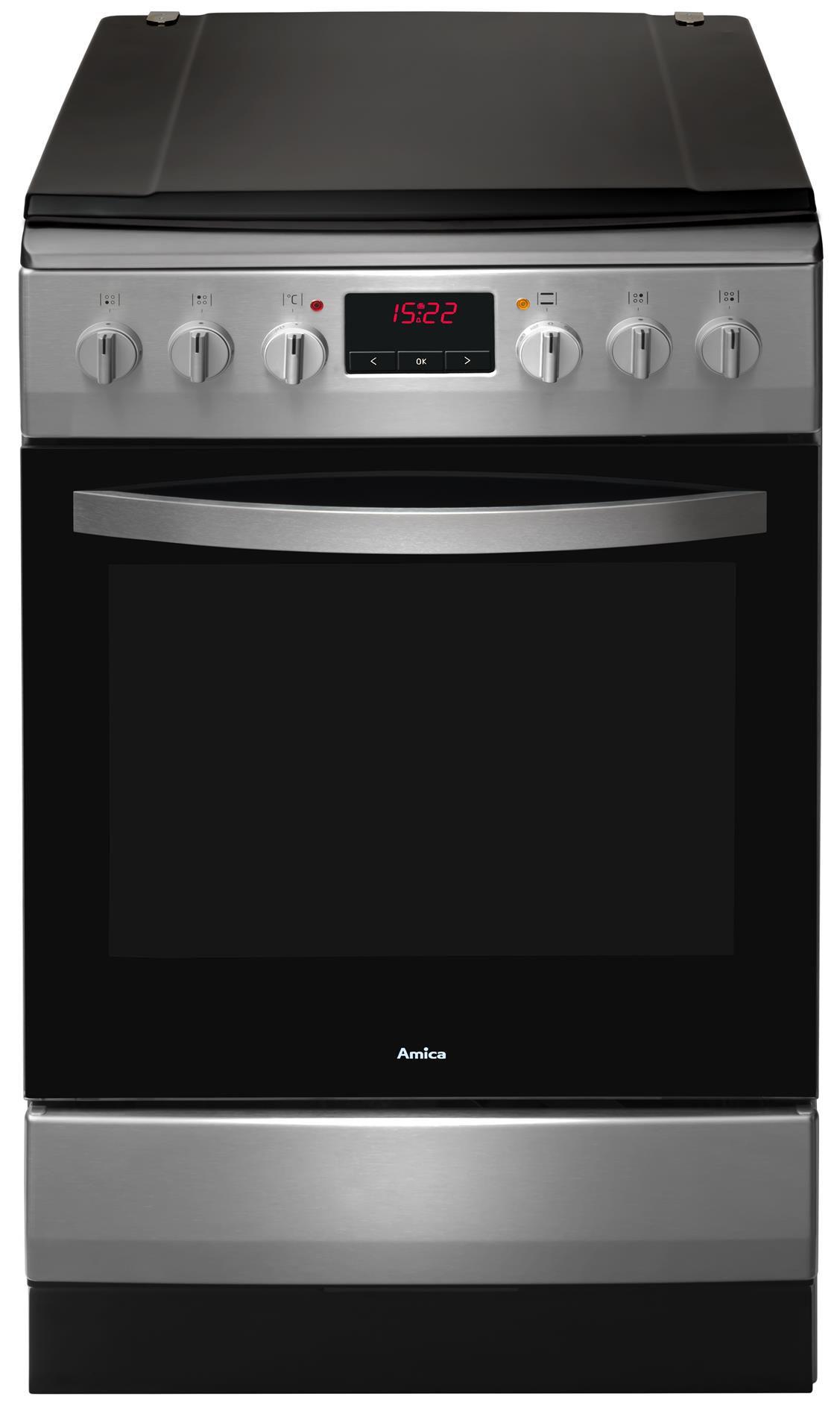 Kuchnia wolnostojąca gazowo elektryczna 500 520GE3 33ZpTaDpAQ(Xx)  Amica -> Kuchnia Elektryczna Wolnostojąca Amica