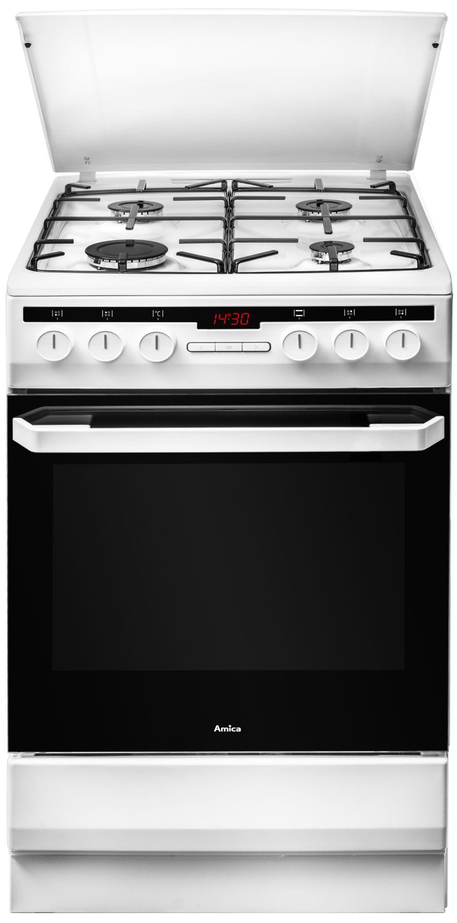 Kuchnia wolnostojąca gazowo elektryczna 58GED2 33HZpTaQ(W)  Amica -> Kuchnia Elektryczna Wolnostojąca Ceramiczna