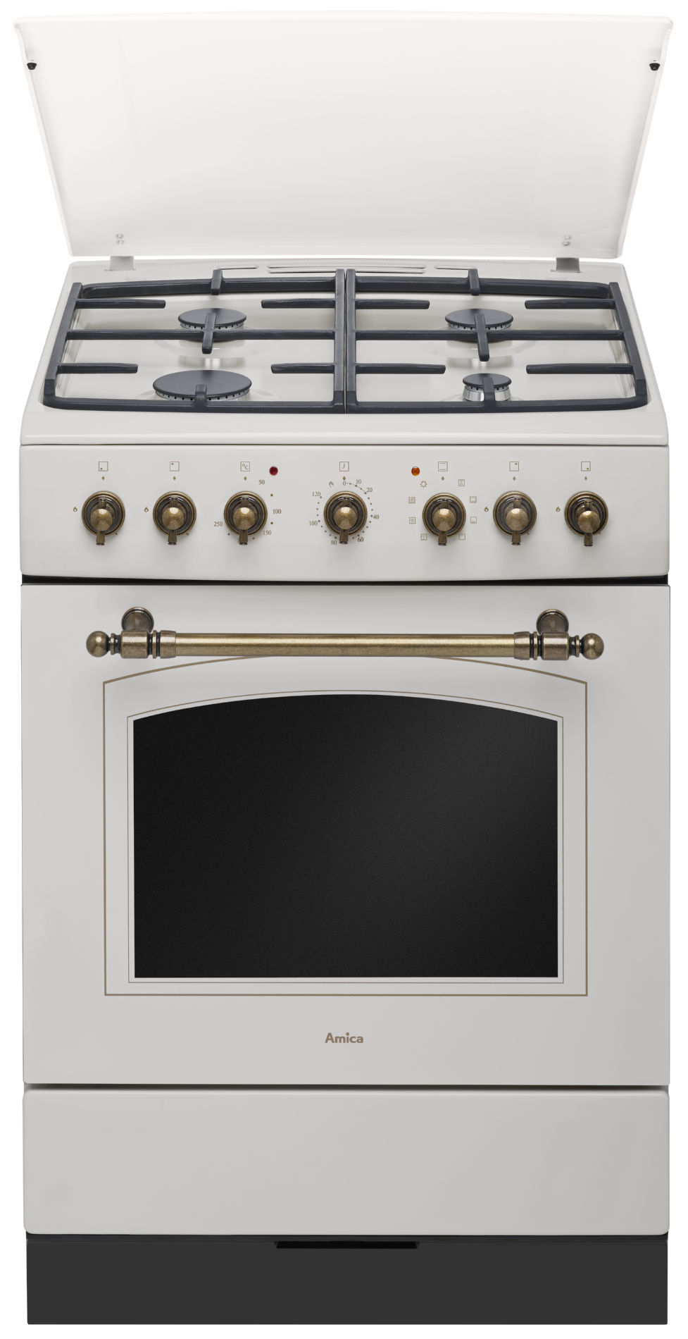 Free Standing Gas Electric Cooker Amica Retro 621ge233zpmsdpaci